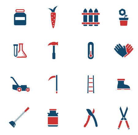 ladder  fence: Garden tools simply icons for web