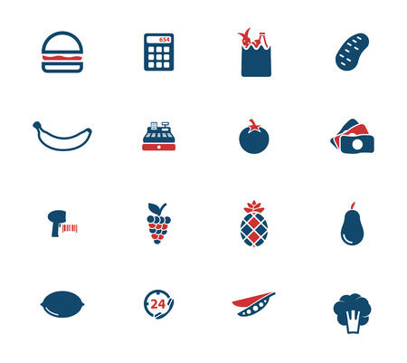 fast food: Grocery simply icons for web