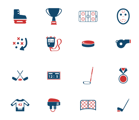 hockey goal: Hockey simply icons for web