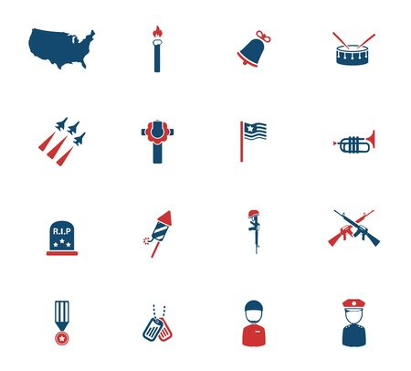 epaulettes: Memorial day simply icons for web