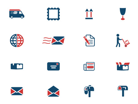 recipient: Post service simply icons for web