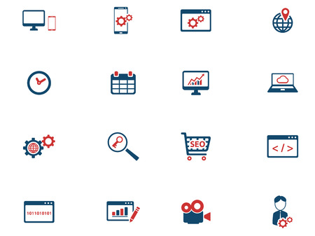 option key: SEO and development simply icons for web