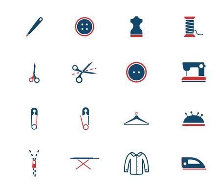 Krawiectwo prostu ikony dla sieci Ilustracje wektorowe