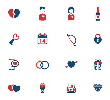 flower clip art: Valentines day simply icons for web