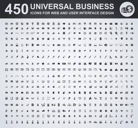 Business icon set for web and user interface