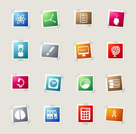 e ink: University card icons for web Illustration