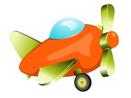 aeronautics: Retro plane toy. Vector illustration in eps 10