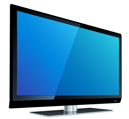 television icon: TV flat screen lcd, plasma realistic vector illustration.