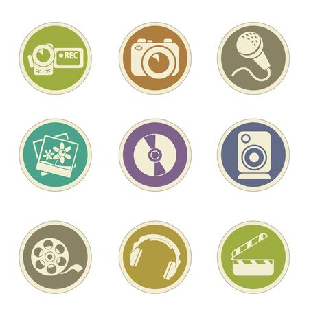 spot lit: Social media vector icons for web sites and user interfaces