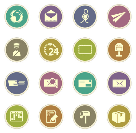 sent: Post service vector icons for web sites and user interfaces