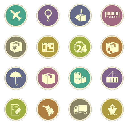 ship order: Shipping and delivery vector icons for web sites and user interfaces