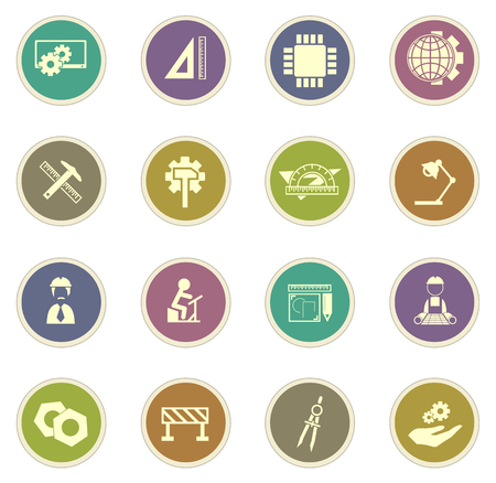 habiliment: Engineering vector icons for web sites and user interfaces