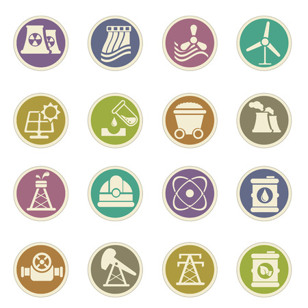 oxidation: Fuel and Power vector icons for web sites and user interfaces