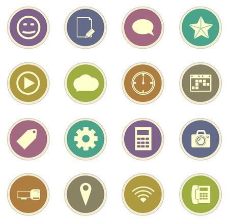 socialising: los medios de comunicación sociales iconos vectoriales para sitios web e interfaces de usuario