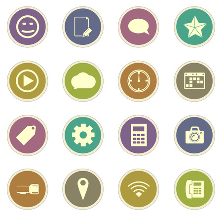 chat room: Social media vector icons for web sites and user interfaces
