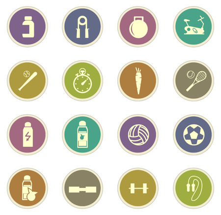 Sports vector icons for web sites and user interfaces Illustration