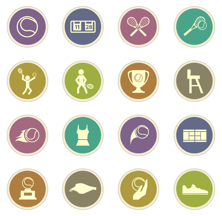 tennis shoe: Tennis vector icons for web sites and user interfaces