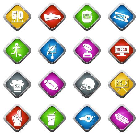 porrista: icono americano de color de f�tbol para los sitios web e interfaces de usuario