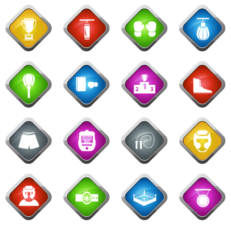 driving range: Boxing vector icons for web sites and user interfaces