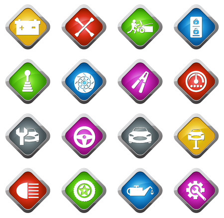 woman credit card: Casino vector icons for web sites and user interfaces Illustration