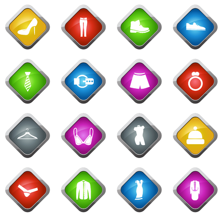 Clothes vector icons for web sites and user interfaces Vettoriali