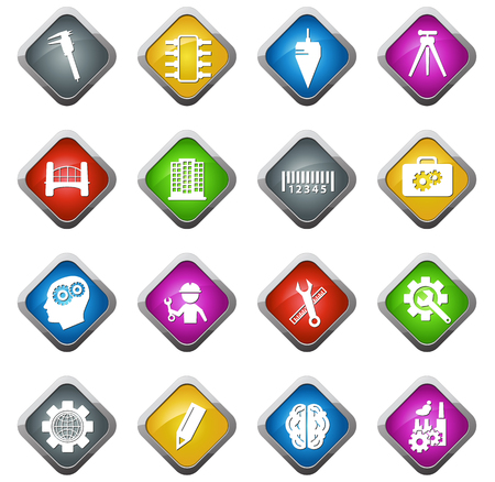 manufacturing occupation: Engineering vector icons for web sites and user interfaces