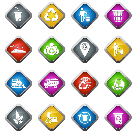 landfill: Garbage vector icons for web sites and user interfaces