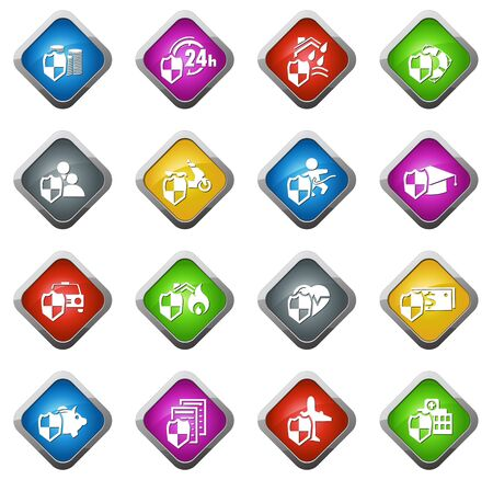 family policy: Insurance vector icons for web sites and user interfaces