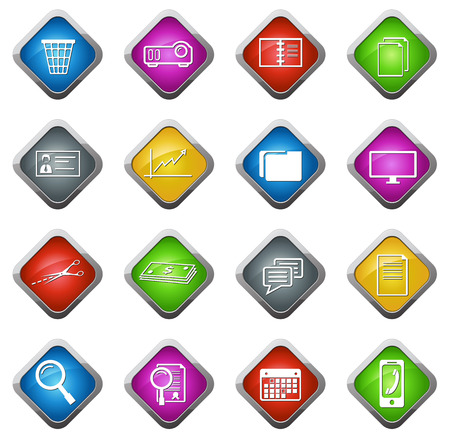 stat: Office and Business vector icons for web sites and user interfaces