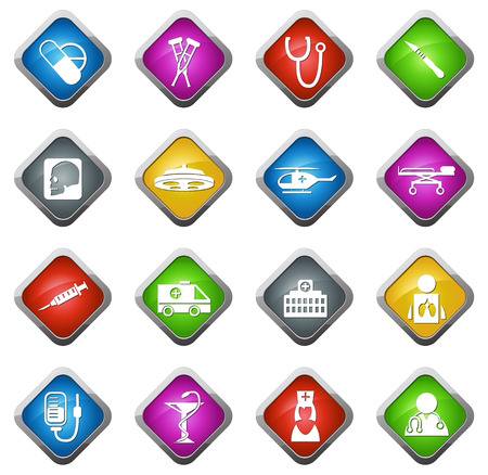 Medical vector icons for web sites and user interfaces
