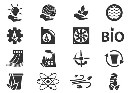 alternative energy: Alternative energy simply icons for web and user interfaces