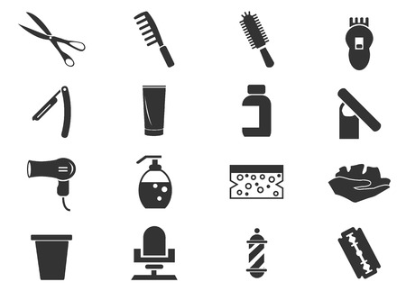 barbershop: Barbershop simply icons for web and user interfaces