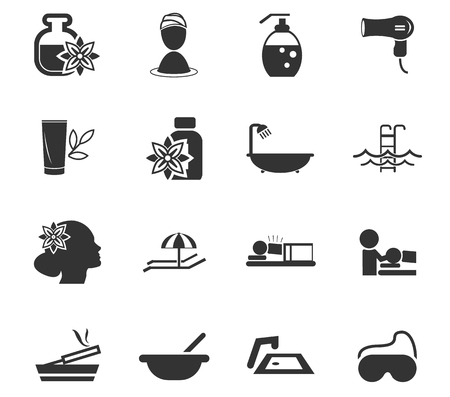 bodycare: Spa simply icons for web and user interfaces