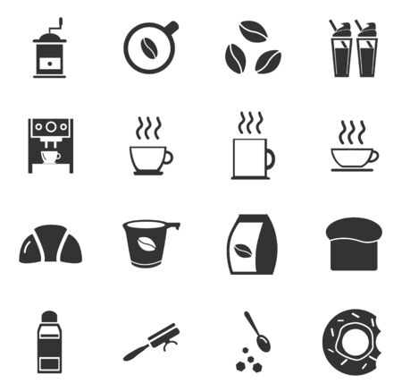 coffee icon: Cafe simply icons for web and user interfaces Illustration