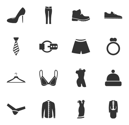 Clothes simply icons for web and user interfaces