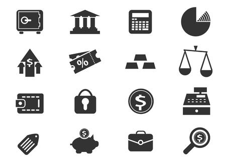 Business and Finance simply icons for web and user interfaces