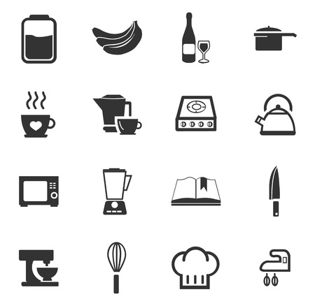 hubcap: Food and kitchen simply icons for web and user interfaces Illustration