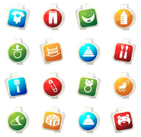 pezones: icono de color del bebé para los sitios web e interfaces de usuario