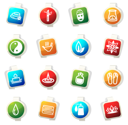 papering: Spa vector icons for web sites and user interfaces