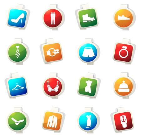 Clothes vector icons for web sites and user interfaces Illustration