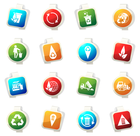 trashing: Garbage vector icons for web sites and user interfaces