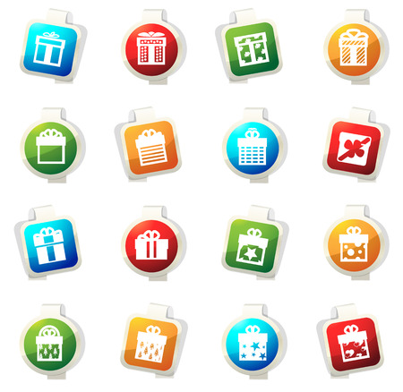 giftware: Gift box vector icons for web sites and user interfaces