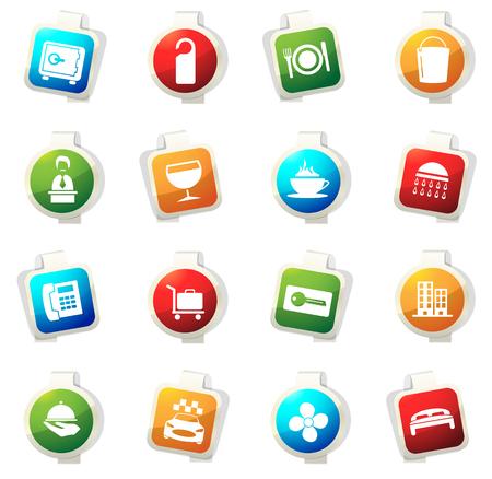 Hotel camera vettoriale icone per siti Web e interfacce utente