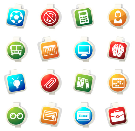 School vector icons for web sites and user interfaces