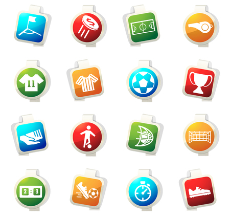 toss: Soccer vector icons for web sites and user interfaces