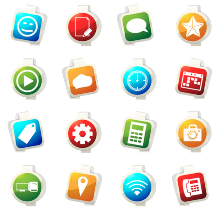 Social media vector icons for web sites and user interfaces