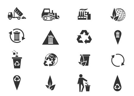 camion de basura: Basura simplemente iconos para web y las interfaces de usuario