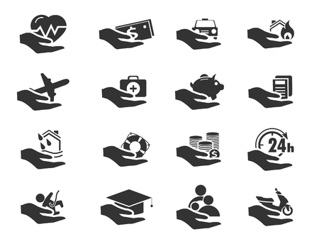 palpitations: Insurance simply icons for web and user interfaces