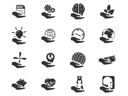 thumb keys: Insurance simply icons for web and user interfaces
