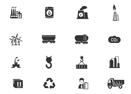 industry icons: Industry simply icons for web and user interfaces